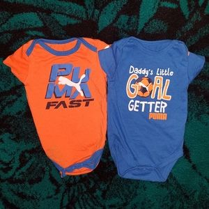 NWOT Set of Puma Onesies